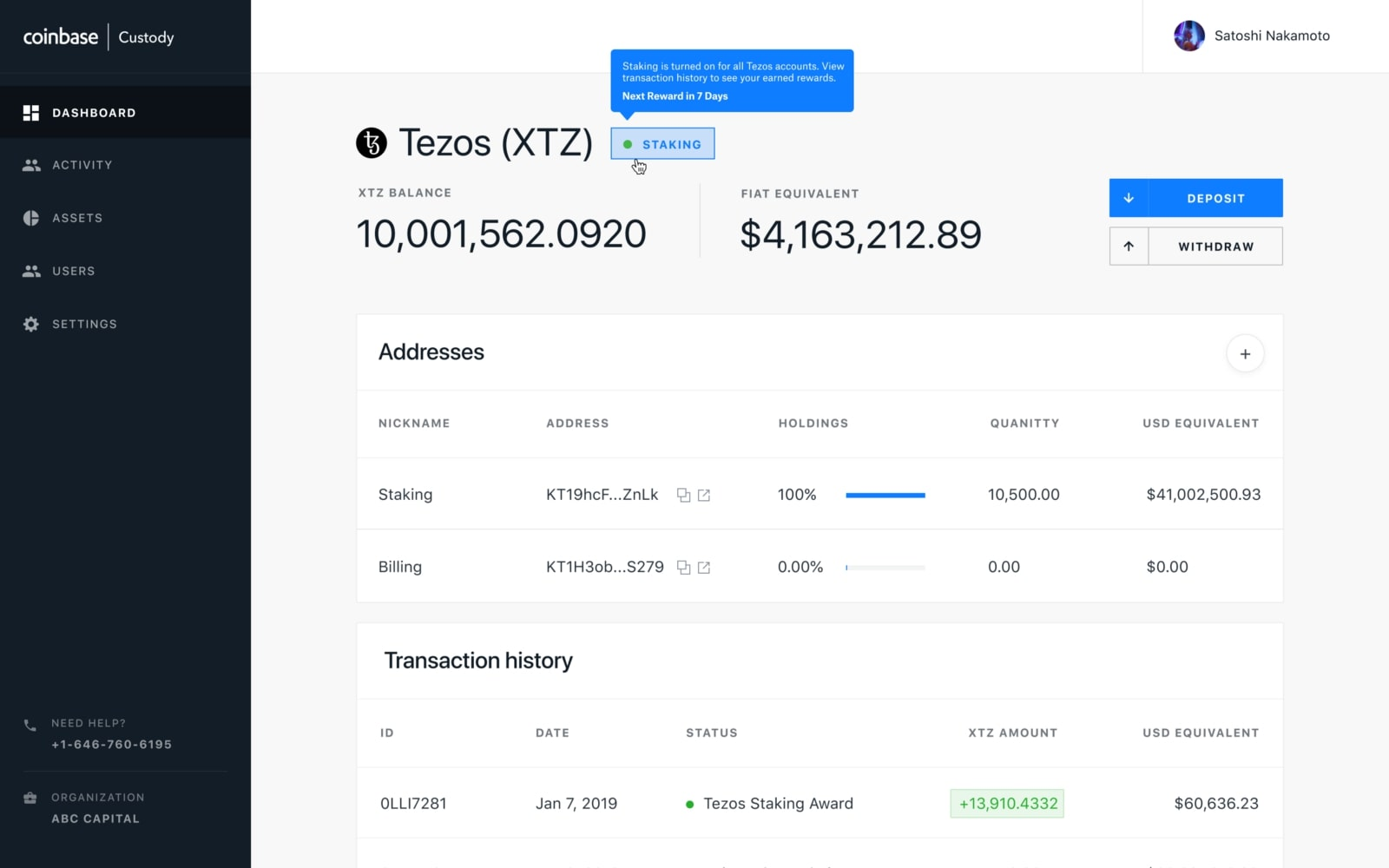 Coinbase Custody launches staking support for Tezos and MakerDAO
